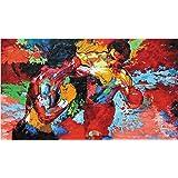 リロイ・ニーマンによってEPRO(アポロ対ロッキー)アートシルクのポスター24x36インチ [並行輸入品]