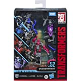 Transformers E7198AS00 Toys Studio Series 52 Deluxe Revenge of The Fallen Movie Arcee Chromia Elita-1 Action Figure 3 Pack, 4