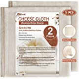 eFond Cheese Cloth, 24x24Inch Hemmed Cheesecloth for Straining Reusable, Grade 90 Double Layer Filtration, Unbleached Pure Co