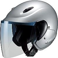 マルシン(MARUSHIN) バイクヘルメット セミジェット M-510 シルバー フリーサイズ(57~~60CM)