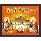 Guru Granth Sahib, A Religious Book for Sikh Religious People for Daily Reading, A Sikh Religious Poster with Frame Must for