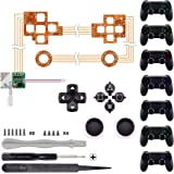 eXtremeRate Multi-Colors Luminated D-pad Thumbsticks Face Buttons (DTF) LED Kit for PS4 Controller 7 Colors 9 Modes Touch Con