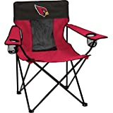 Logo Brands Officially Licensed NFL Folding Elite Chair with Mesh Back and Carry Bag, Team Color