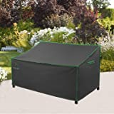 "Patio Loveseat Cover, Heavy Duty Waterproof UV Resistant Anti-Fading Outdoor 2-Seater Bench Cover, Grey, 62"" W x 39"" D x 36"""