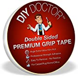 DIY Doctor DDT Xtra Strong Double Sided Carpet Rug Gripper Tape-Ultimate Grip Strength-Bonds to Almost Anything But Leaves No