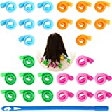 28 Pcs Hair Curlers No Heat Snail Curlers Styling Kit Hair Wave Formers Heatless Curler Spiral Curls Formers for Short Medium