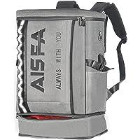 AISFAリュック メンズ リュックサック スクエア バックパック 防水15.6インチ PC ビジネス ラップトップバッ…