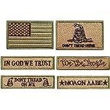 Bundle 6 Pieces Tactical Military Morale Patch Set (Tan)