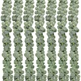 COCOBOO Coocoboo 7 Pack Artificial Eucalyptus Garland Greenery Eucalyptus Vines Faux Silver Dollar Eucalyptus Strands for Wed
