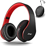 Wireless Over-Ear Headphones with Deep Bass, Foldable Wireless and Wired Stereo Headset Buit in Mic for Cell Phone, PC,TV, PC