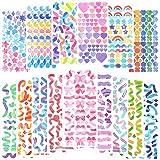 15 Sheets Scrapbook Stickers Laser Ribbon Stickers Confetti Sticker Shiny Decoration Sticker Bling Photo Conor Sticker for Jo