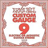 Ernie Ball Plain Steel, Single Strings.009