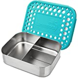 LunchBots Trio II Stainless Steel Food Container - Three Section Design Perfect for Healthy Snacks, Sides, or Finger Foods On