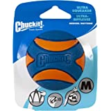 Chuckit! Ultra Squeaker Ball, Blue & Orange, Medium 2.5""