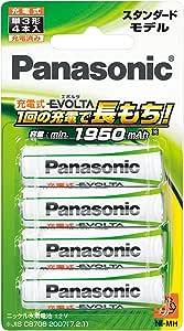パナソニック 充電式エボルタ 単3形 4本パック(スタンダードモデル)