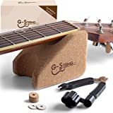 Guitar Neck Rest Support Cradle + Guitar String Winder and Cutter Tool - Guitar Accessories Tool Kit for Repair, Maintenance