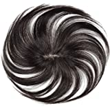 FESHFEN ウィッグ ポイントウィッグ 白髪隠れ wig ヘアピース 人毛 部分ウィッグ ステルス手植え トップカバ…