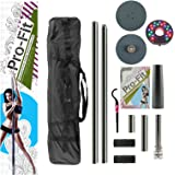 Pro Fit 45Mm Professional Portable Spinning Dance Pole with Attachable Led Dance Light and Carry Bag