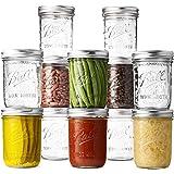 Ball Wide Mouth Mason Jars 16 oz [12 Pack] With mason jar lids and Bands, Ball mason jars 16 oz - For Canning, Fermenting, Pi