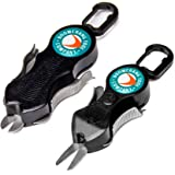 Boomerang Tool Company Snip Fishing Line Cutters with Retractable Tether and Stainless Steel Blades That Cut Braid, Mono and