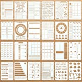 24 Pieces Productivity Stencil Journal Stencil Plastic Planner DIY Drawing Template for Time Saving Planner, Calendars, Lists
