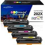 GPC Image Compatible Toner Cartridge Replacement for HP 202X 202A CF500X CF500A to use with Laserjet Pro MFP M281fdw M254dw M