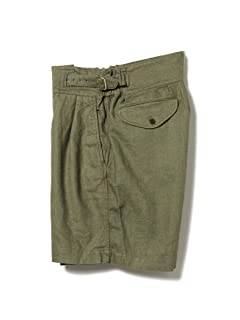 Linen Gurkha Shorts 11-25-1549-139: Olive