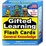 TestingMom.com Gifted Learning Flash Cards – General Knowledge for 1st - 2nd Grade – Gifted and Talented Educational Toy for