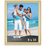 Icona Bay Picture Frames Picture Frame Set, Wall Mount or Table Top, Inspirations Collection, Plastic, Gold, 8x10