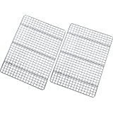 Checkered Chef Cooling Racks for Baking - 10 x 15 Inches - Stainless Steel Cooling Rack/Baking Rack Set of 2 - Oven Safe Wire