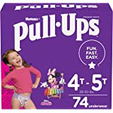 Pull-Ups Learning Designs Girls' Training Pants, 4T-5T, 74 Ct