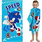 "Franco Kids Super Soft Cotton Beach Towel, 28"" x 58"", Sonic The Hedgehog"