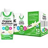 Orgain Organic Nutritional Shake, Vanilla Bean - Meal Replacement, 16g Protein, 20 Vitamins & Minerals, Gluten Free, Soy Free