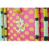 Desi Favors Pink Lotus Backdrop Sheets - Indian Backdrop Decorations