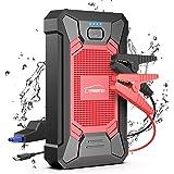 YABER ジャンプスターター 12Vエンジンスターター 12000mAh大容量 防水 ピーク電流800A 5Lガソリン車/4Lディーゼル車対応 スマホ/iPhone/iPad/タブレットなど充電 モバイルバッテリー LED応急ライト搭載 24ヶ月保