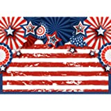 Allenjoy 7x5ft American Flag 4th of July Backdrop USA Retro Wooden Floor Patriotic Independence Day Photography Background Ve