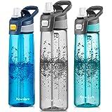 Newdora Sports Water Bottle with Flip Straw, Large BPA Free Drinking Bottle, Sports Flask, Leakproof Gym Bottle, Ideal for Sp