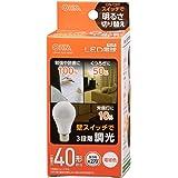 オーム電機 LED電球(40形相当/492lm/電球色/E26/全方向270°/密閉形器具対応/調光機能付) LDA4L-G/D AG93