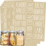 Talented Kitchen 136 All Caps White Pantry Labels. 136 Ingredients Food Pantry Label Sticker. Water Resistant Food Jar Labels