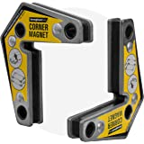 Strong Hand Tools - VAL-MST327 , Magnetic Corner Squares, (Twin Pack), 12°, 90° & 60° Angle Setting, Max Pull Force: 30 lbs,