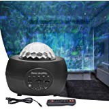 FantasyAttics LED Night Light Projector - 3 in 1 Galaxy Star Projector Skylight Ocean Wave and Water Wave Children's Night Li