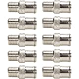 TLS.eagle F Type RG6 Coax Coaxial Cable Connector Adaptor Male to Female - 10 Pack