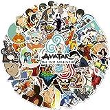 Avatar: The Last Airbender Cartoon Anime Stickers 50PCS Laptop Computer Bedroom Wardrobe Car Skateboard Motorcycle Bicycle Mo