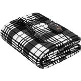 Sojoy iHealthComfort 12V Electric Heated Travel Blanket with Intelligent Temp Controller 30/60/90 mins Timer High, Medium, Lo