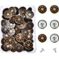Hestya 40 Sets Jeans Buttons Metal Button Snap Buttons Kit with Rivets and Plastic Storage Box Bronze