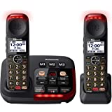 Panasonic Amplified Digital Cordless Phone with Answering Machine & Twin-Pack Handsets (KX-TGM422AZB)