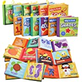 JOYIN 12 Packs My First Soft Bath Books, Nontoxic Fabric Soft Baby Cloth Books,Early Education Toys, Waterproof Baby Books fo