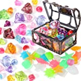 Dive Gem Pool Toys Treasure Chest Colorful Sinking Gem Pirate Diving Toys Set Summer Underwater Swimming Toy Set Games for Ki
