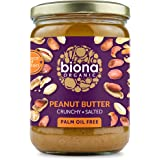 Biona Organic Peanut Butter Crunchy with Sea Salt, 500 g