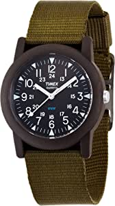 [タイメックス]TIMEX 腕時計 キャンパー ブラック文字盤 カーキナイロンストラップ T41711 [正規輸入品]